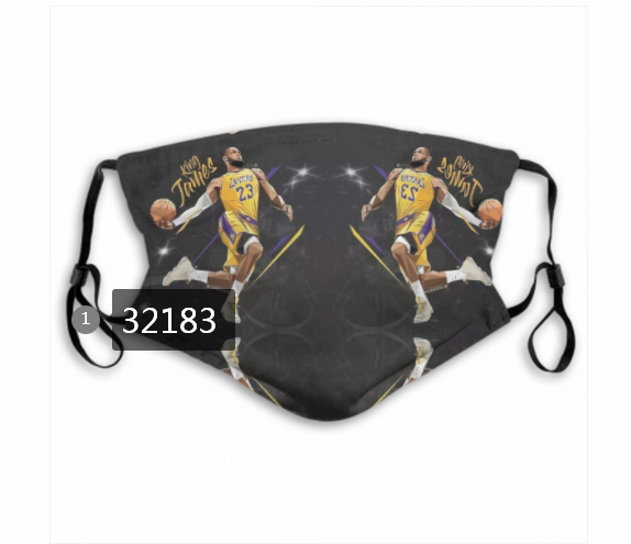 Wholesale NBA 2020 Los Angeles Lakers41 Dust mask with filter