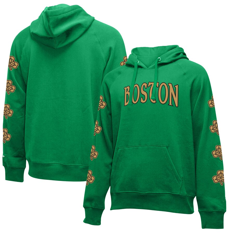 Wholesale NBA Boston Celtics New Era 201920 City Edition Pullover Hoodie Kelly Green