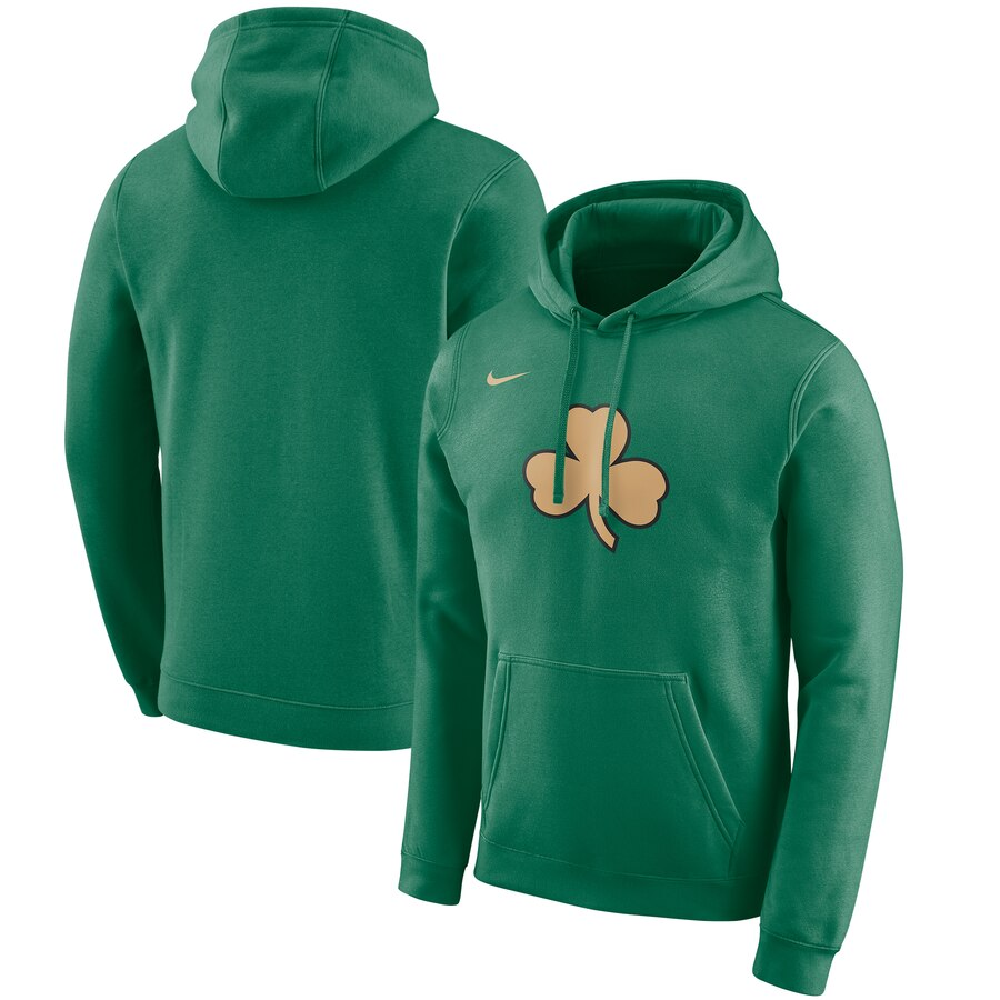 Wholesale NBA Boston Celtics Nike 201920 City Edition Club Pullover Hoodie Green