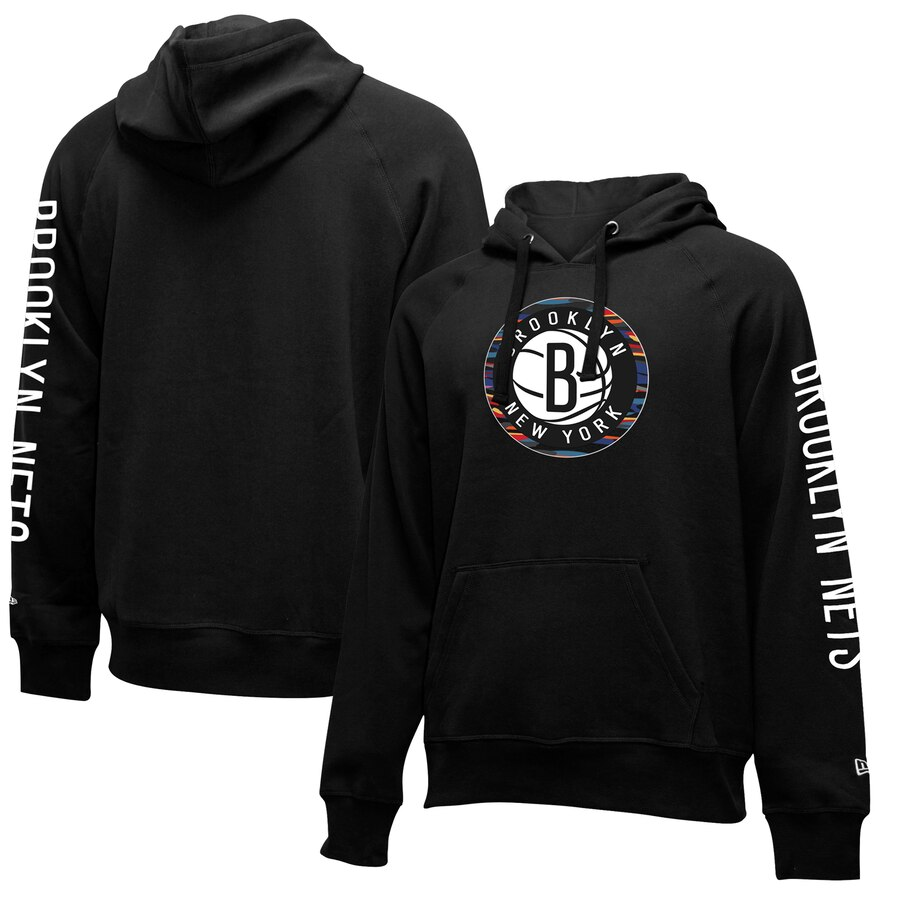 Cheap NBA Brooklyn Nets New Era 201920 City Edition Pullover Hoodie Black