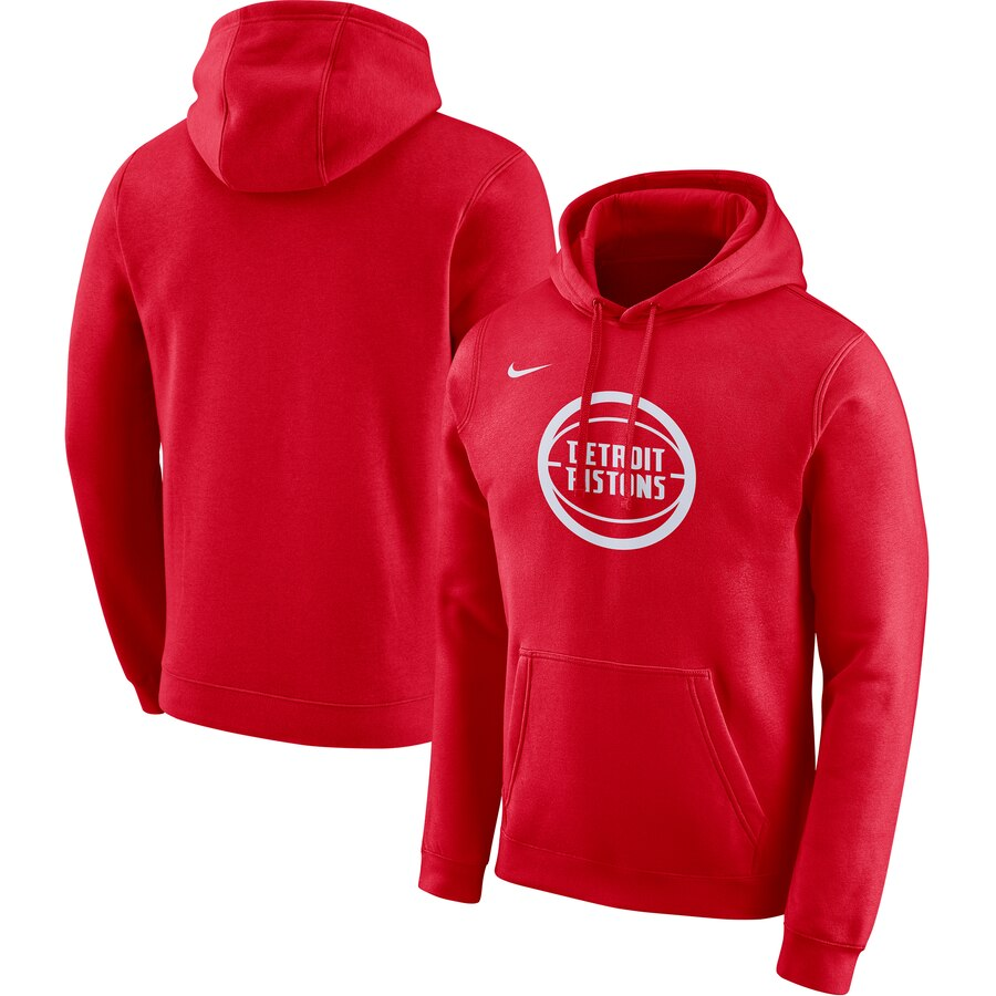 Wholesale NBA Detroit Pistons Nike 201920 City Edition Club Pullover Hoodie Red