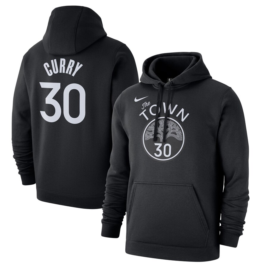 Wholesale NBA Golden State Warriors 30 Stephen Curry Nike 201920 City Edition Name Number Pullover Hoodie Black