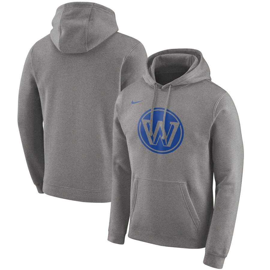 Wholesale NBA Golden State Warriors Nike 201920 City Edition Club Pullover Hoodie Heather Gray