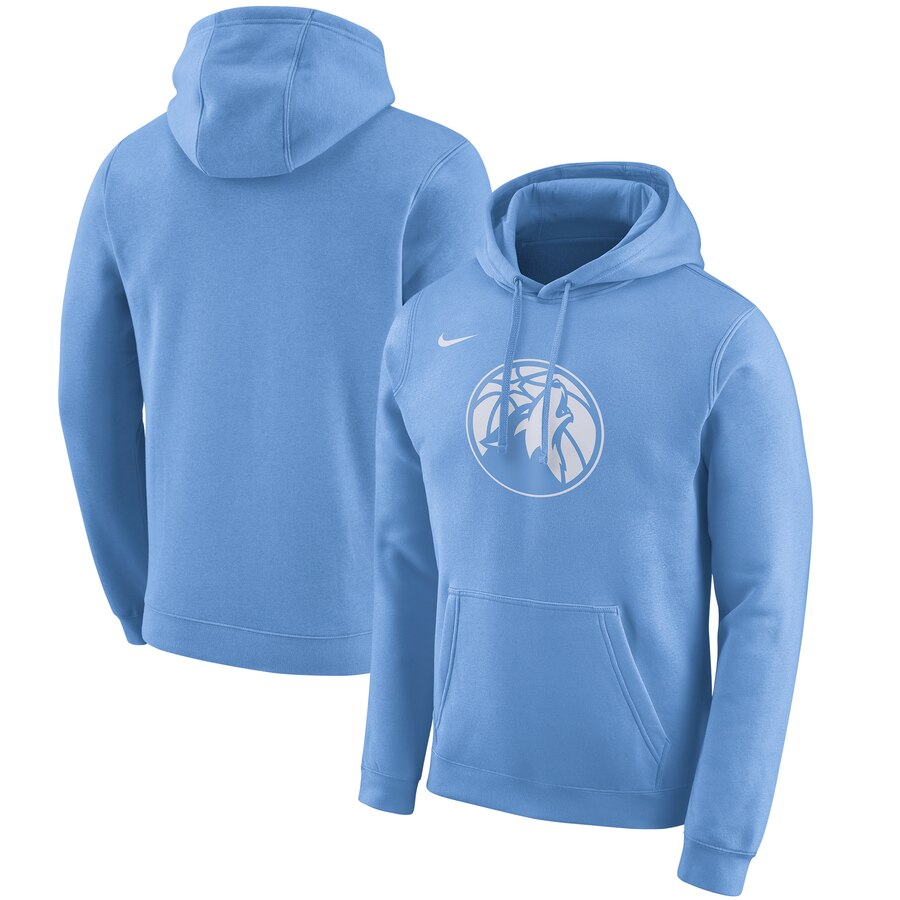 Cheap NBA Minnesota Timberwolves Nike 201920 City Edition Club Pullover Hoodie Blue