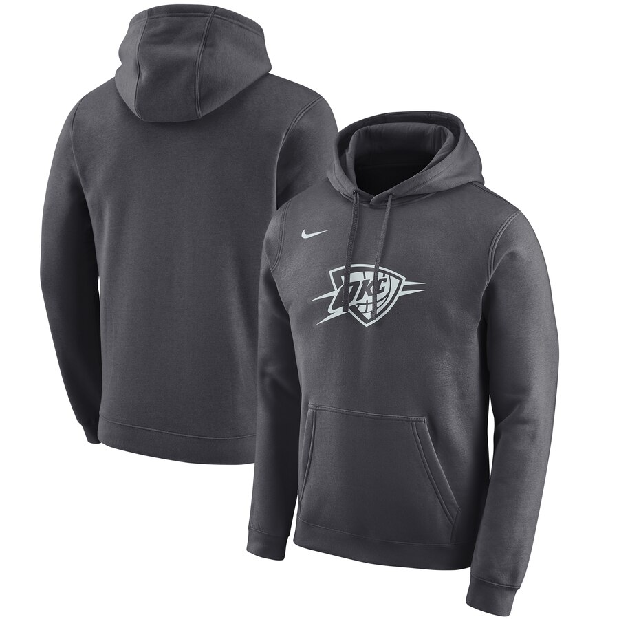 Cheap NBA Oklahoma City Thunder Nike 201920 City Edition Club Pullover Hoodie Anthracite