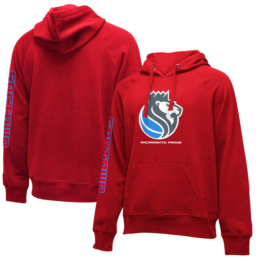 Wholesale NBA Sacramento Kings New Era 201920 City Edition Pullover Hoodie Red