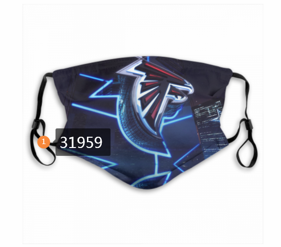 Wholesale NFL 2020 Atlanta Falcons 212 Dust mask with filter