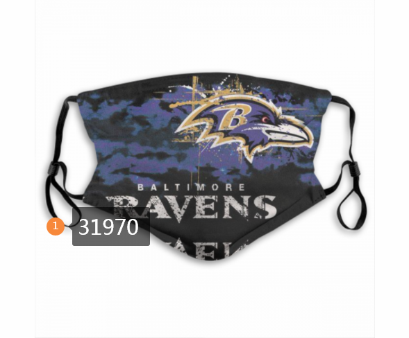 Wholesale NFL 2020 Baltimore Ravens 201 Dust mask with filter