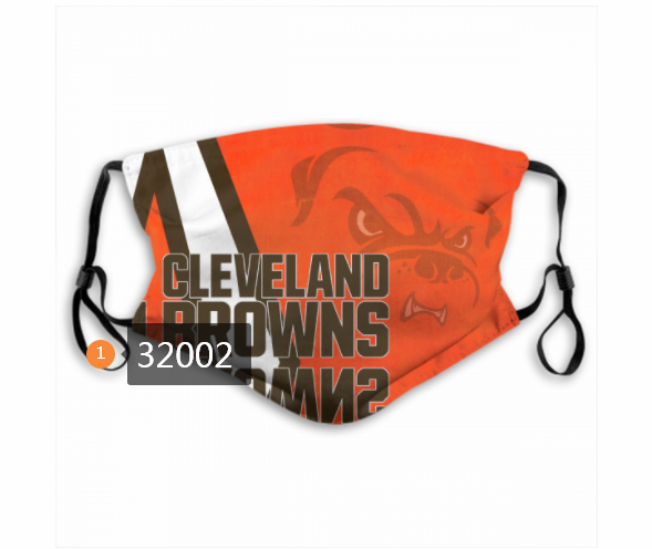 Cheap NFL 2020 Cleveland Browns 168 Dust mask with filter