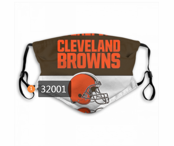 Cheap NFL 2020 Cleveland Browns 170 Dust mask with filter