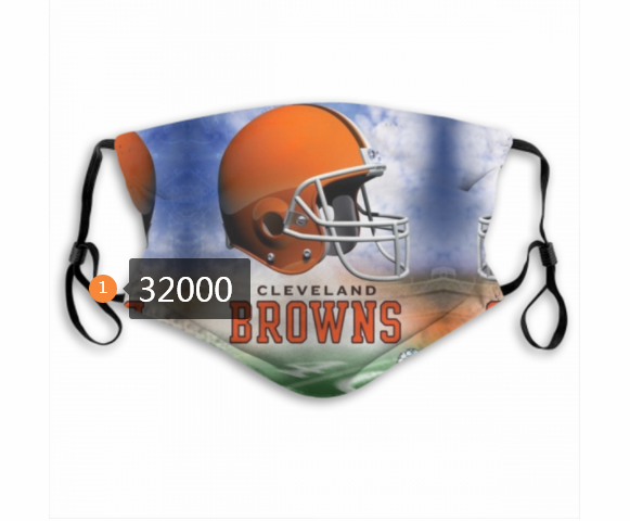 Cheap NFL 2020 Cleveland Browns 171 Dust mask with filter