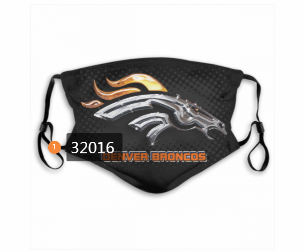 Wholesale NFL 2020 Denver Broncos 154 Dust mask with filter