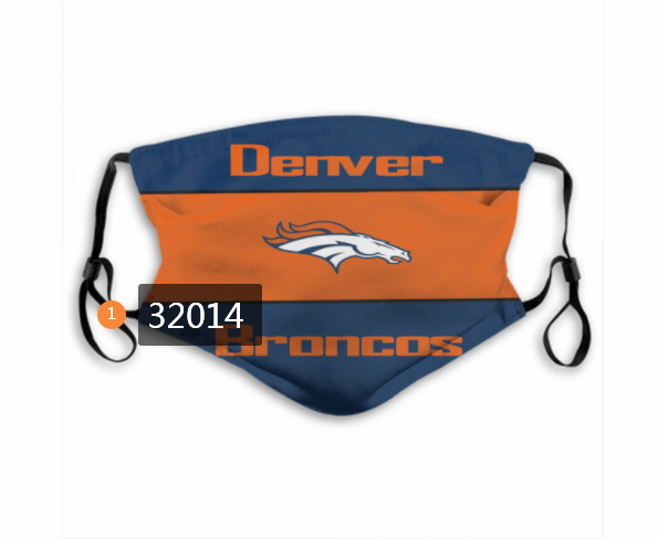 Wholesale NFL 2020 Denver Broncos 156 Dust mask with filter