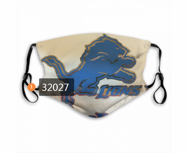 Cheap NFL 2020 Detroit Lions 143 Dust mask with filter