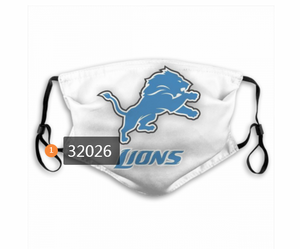 Cheap NFL 2020 Detroit Lions 144 Dust mask with filter