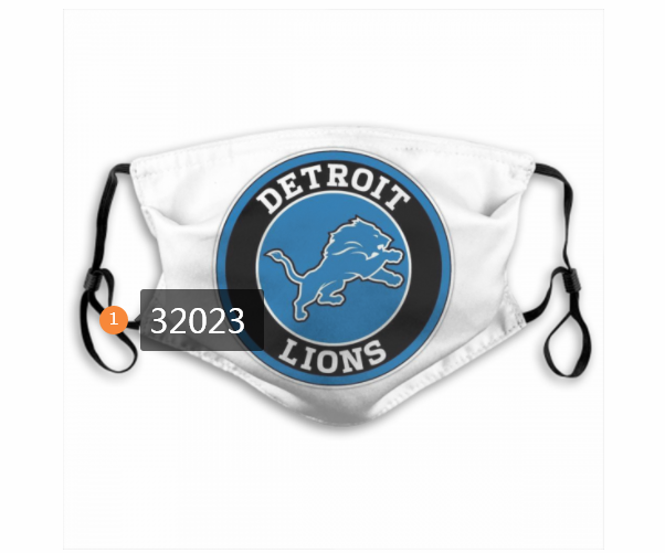 Cheap NFL 2020 Detroit Lions 147 Dust mask with filter