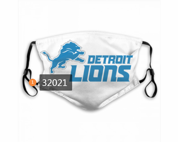 Cheap NFL 2020 Detroit Lions 149 Dust mask with filter