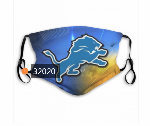 Cheap NFL 2020 Detroit Lions 150 Dust mask with filter