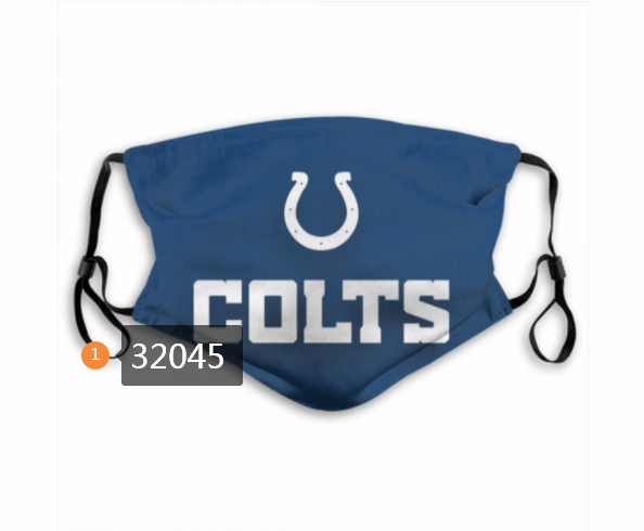 Cheap NFL 2020 Indianapolis Colts 125 Dust mask with filter