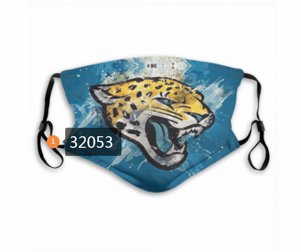 Cheap NFL 2020 Jacksonville Jaguars 117 Dust mask with filter