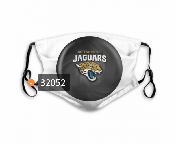 Cheap NFL 2020 Jacksonville Jaguars 118 Dust mask with filter