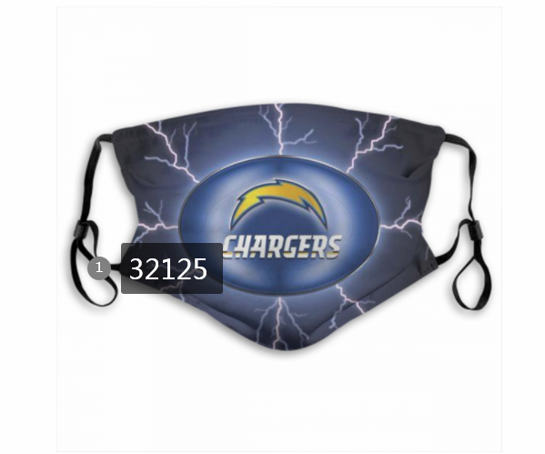 Wholesale NFL 2020 Los Angeles Chargers 44 Dust mask with filter