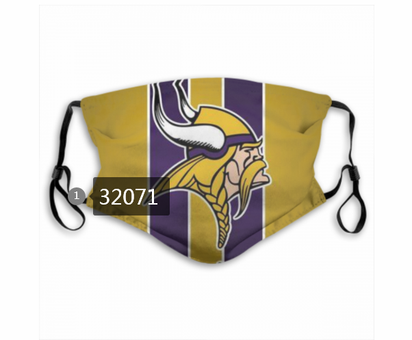 Cheap NFL 2020 Minnesota Vikings 99 Dust mask with filter