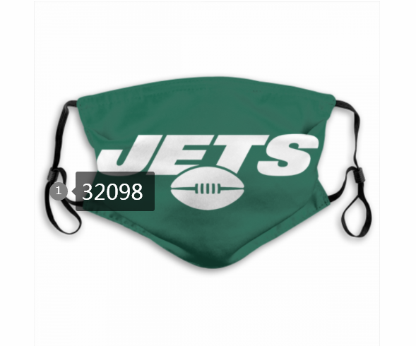 Wholesale NFL 2020 New York Jets 72 Dust mask with filter