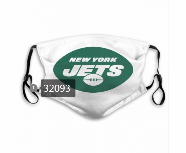 Wholesale NFL 2020 New York Jets 77 Dust mask with filter