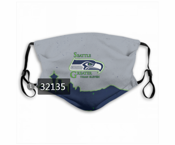 Cheap NFL 2020 Seattle Seahawks 34 Dust mask with filter
