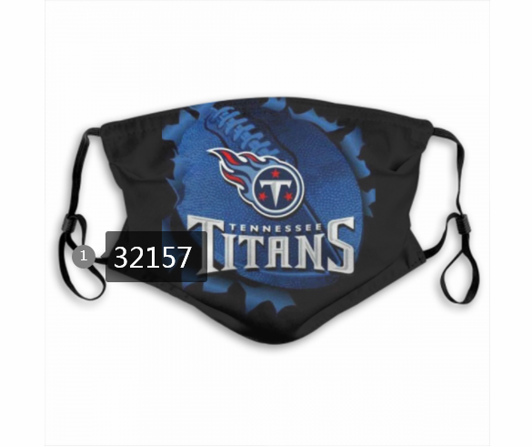 NFL 2020 Tennessee Titans 12 Dust mask with filter
