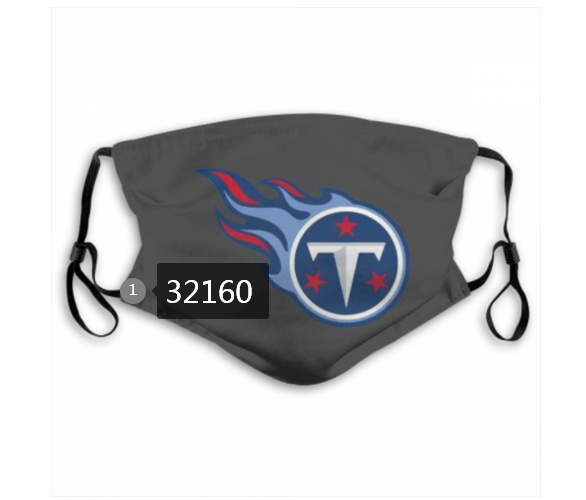 NFL 2020 Tennessee Titans 9 Dust mask with filter