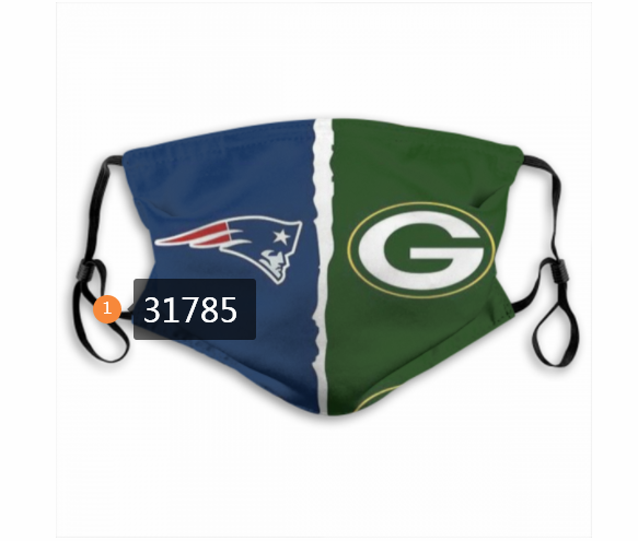 Wholesale NFL Green Bay Packers 1702020 Dust mask with filter