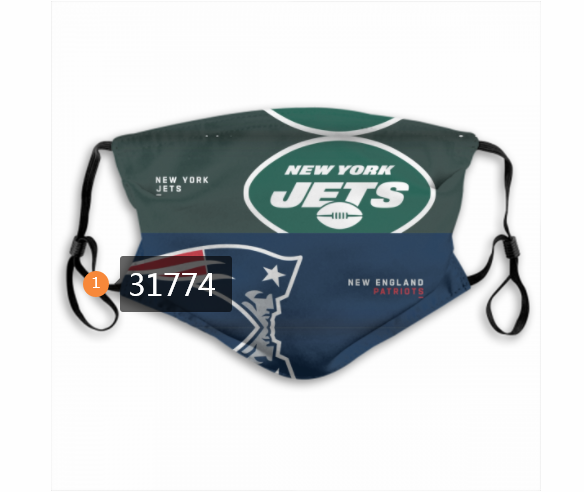 Wholesale NFL New England Patriots 1812020 Dust mask with filter