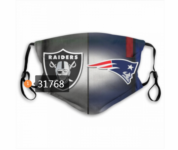 Wholesale NFL New England Patriots 1872020 Dust mask with filter