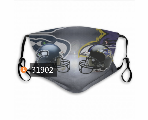 Wholesale NFL Seattle Seahawks 502020 Dust mask with filter