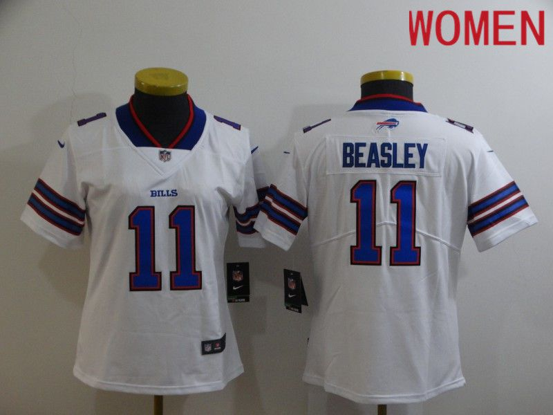 Cheap Women Buffalo Bills 11 Beasley White Nike Limited Vapor Untouchable NFL Jerseys