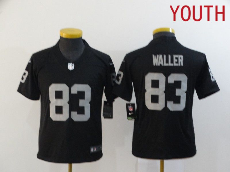 Cheap Youth Oakland Raiders 83 Waller Black Nike Limited Vapor Untouchable NFL Jerseys
