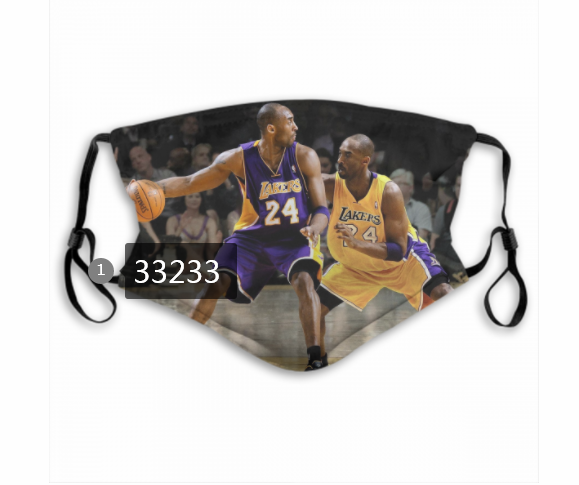 Wholesale 2021 NBA Los Angeles Lakers 24 kobe bryant 33233 Dust mask with filter