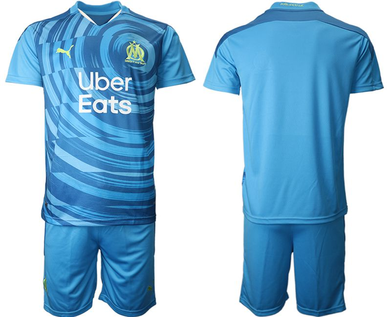 Cheap Men 2020-2021 club Olympique de Marseille away blue Soccer Jerseys