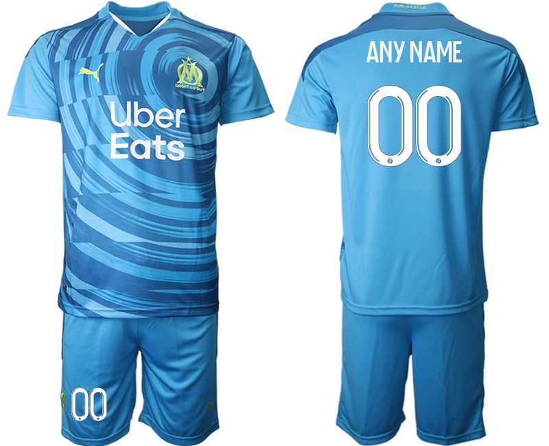 Cheap Men 2020-2021 club Olympique de Marseille away customized blue Soccer Jerseys