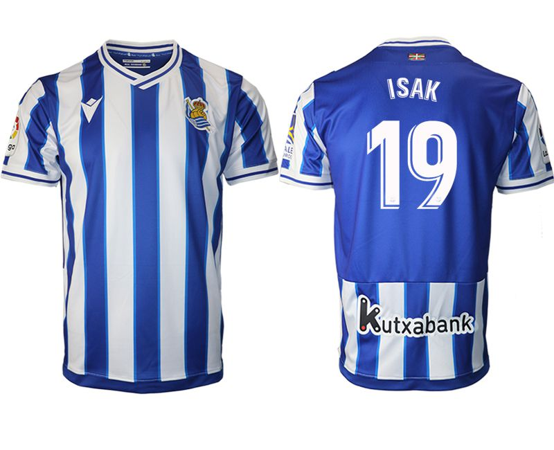 Wholesale Men 2020-2021 club Real Sociedad home aaa version 19 blue Soccer Jerseys