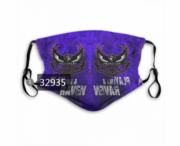 Wholesale New 2021 NFL Baltimore Ravens 172 Dust mask with filter