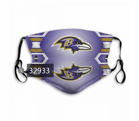 Wholesale New 2021 NFL Baltimore Ravens 174 Dust mask with filter