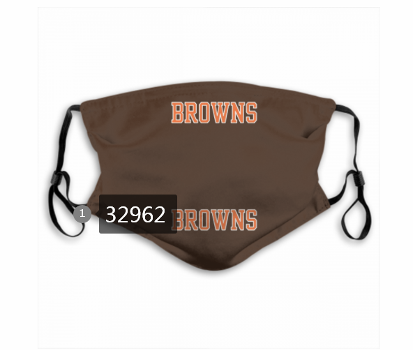 Cheap New 2021 NFL Cleveland Browns 144 Dust mask with filter
