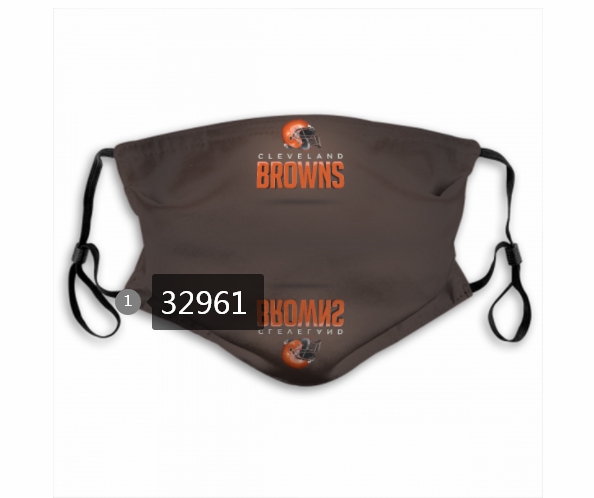 Cheap New 2021 NFL Cleveland Browns 145 Dust mask with filter