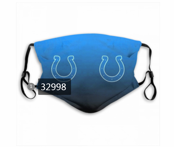 Wholesale New 2021 NFL Indianapolis Colts 108 Dust mask with filter