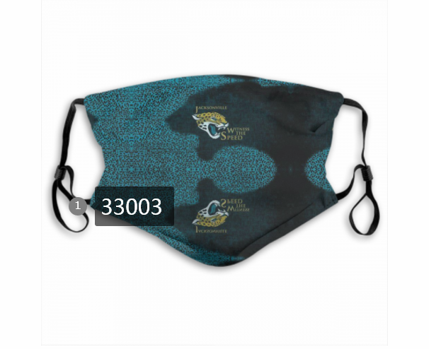 Cheap New 2021 NFL Jacksonville Jaguars 103 Dust mask with filter