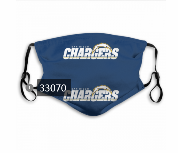 Wholesale New 2021 NFL Los Angeles Chargers 38 Dust mask with filter