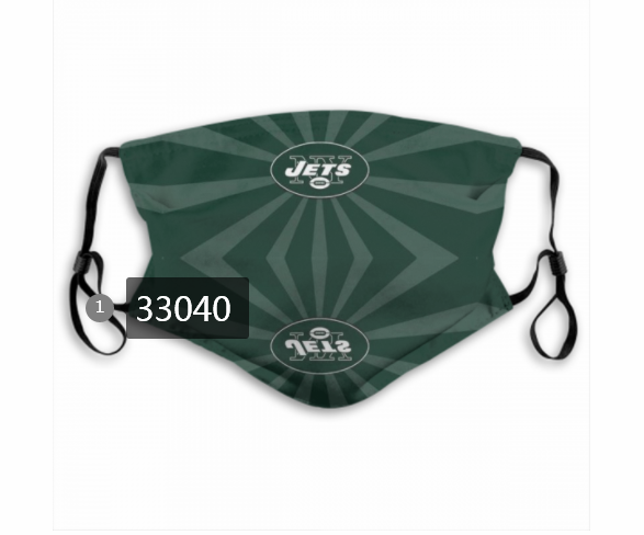 Wholesale New 2021 NFL New York Jets 65 Dust mask with filter
